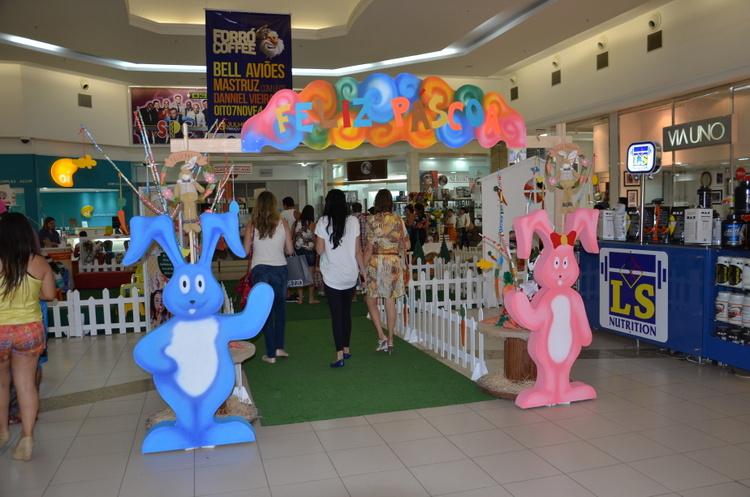 Conquista Shopping Conquista Sul produz decoraç u00e3o temática para a Páscoa BLOG DO ANDERSON -> Decoração De Pascoa Para Vitrine De Loja